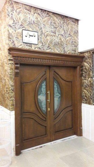 درب لابی تمام چوب سفارشی MA268
