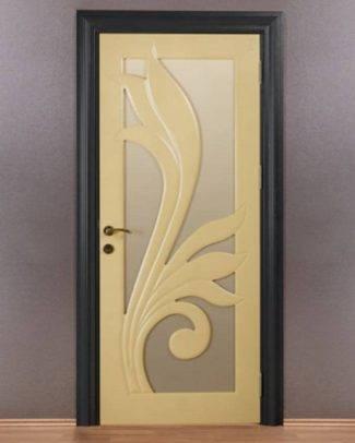 فروش درب داخلی ساختمان، درب داخلی منزل، درب اتاقی، درب ملامینه، درب شیشه خور اتاقی، درب داخلی لوکس اتاق شیشه خور لوکس با رنگ پلی اورتان کد911