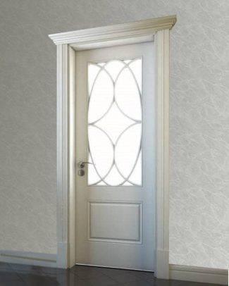 فروش درب داخلی ساختمان، درب داخلی منزل، درب اتاقی، درب ملامینه، درب شیشه خور اتاقی، درب داخلی mdf لوکس شیشه خور با رنگ پلی اورتان کد903