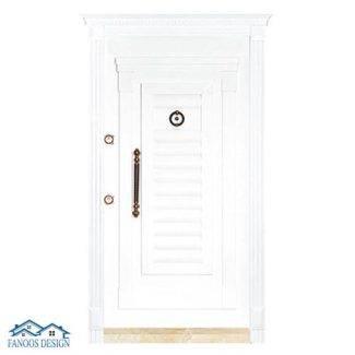درب ضد سرقت کرکره ای سفید کد MT225