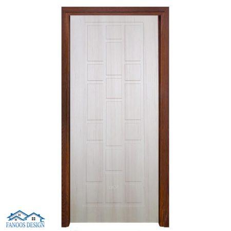 درب وکیوم رویه PVC سفید مات کد 3043
