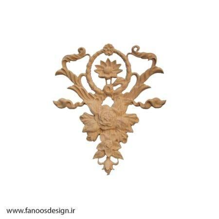 گل منبت چوبی کد 033