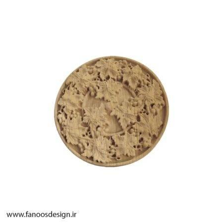 گل منبت چوبی کد 028