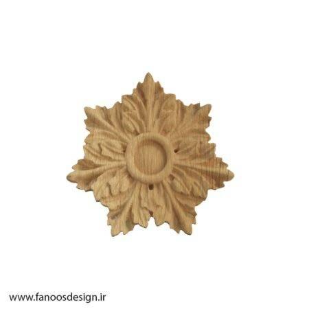 گل منبت چوبی کد 024