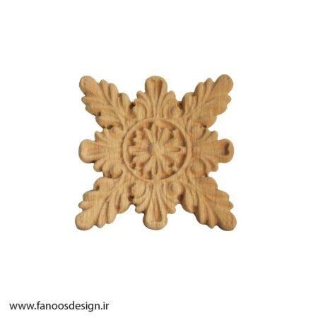 گل منبت چوبی کد 021