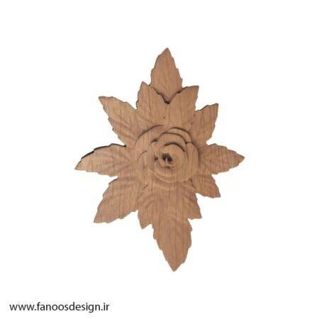 گل منبت چوبی کد 013
