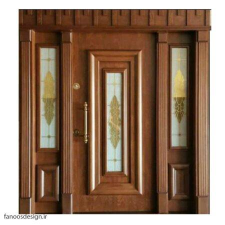 در لابی شیشه ای چوبی کد 9019