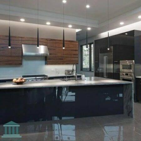 کابینت آشپزخانه ترکیبی ام دی اف و پی وی سی کد 0165