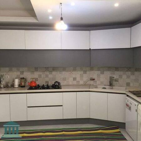 کابینت آشپزخانه ترکیبی پی وی سی و هایگلاس کد 0251