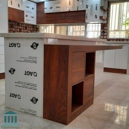 کابینت آشپزخانه ترکیبی ام دی اف و هایگلاس کد 0209