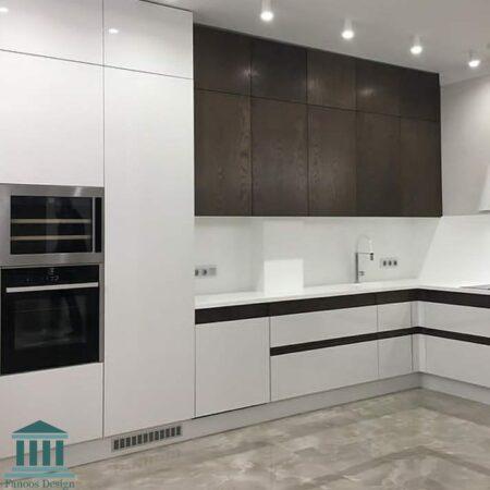 کابینت آشپزخانه ترکیبی ام دی اف و پی وی سی کد 0187